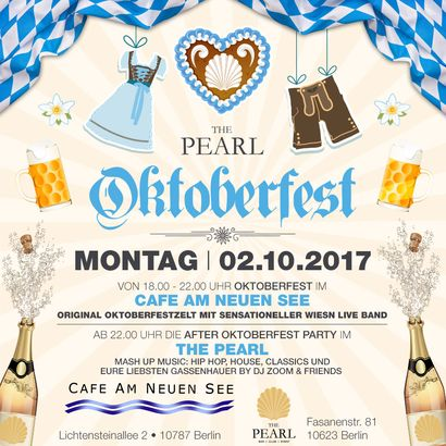 THE PEARL OKTOBERFEST @CANS & AFTER OKTOBERFEST PARTY @THE PEARL